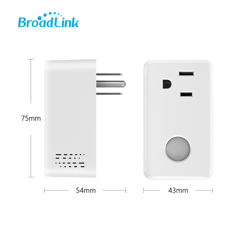 Broadlink SP3 EU US Plug Wifi Power Socket Switch Wireless APP Remote Socket Outlet Timing Switch for Smart Home Automation in Home Automation Modules from Consumer Electronics