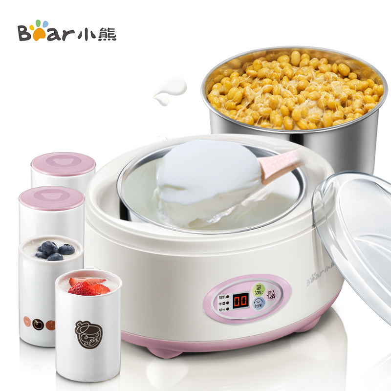 rice wine Natto Yogurt machine Household Fully automatic stainless steel Liner Sub-cup hot selling electric yogurt machine stainless steel liner mini automatic yogurt maker 1l capacity 220v