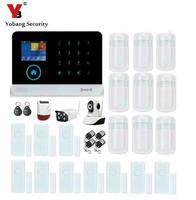 Yobang Security APP Control Wireless HD WiFi Network Camera GSM Alarm System With Outdoor Solar Siren Infrared Motion Detector