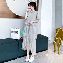 01892f836 2019 vestido de maternidad primavera y verano Delgado nueva versión coreana  de la cintura alta falda