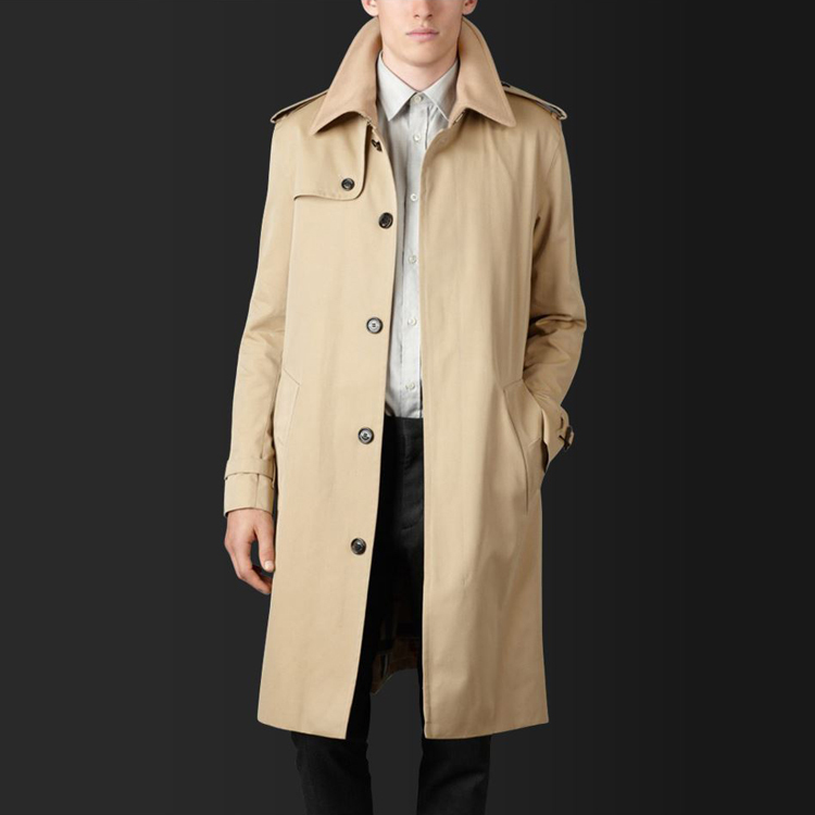 Men's Clothing 2018 Single Breasted Long   Trench   Coat Male Slim Fit Khaki Coat   Trench   uk Personal Size Custom-tailor Coat as Gift