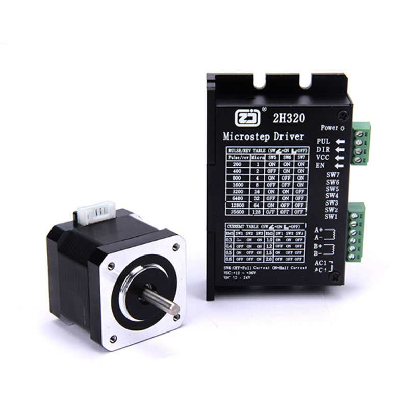 4218HB2 stepper motor + 2H320 drive set body height 40MM torque 0.5N.m 128 subdivision [joy] hakusan original stepper motor drive 4257 series drive maximum 64 aliquots voltage 15v 40 2pcs lot