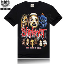 Rocksir T Shirt Men Hip-hop rock band Slipknot For men tshirt short sleeve Black Size M-XXXL Brand Clothing