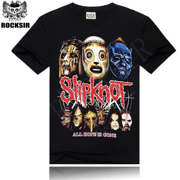 Rocksir T Shirt Men Hip-hop rock band Slipknot For men tshirt short sleeve Black Size M-XXXL Brand Clothing