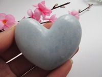 NATURAL PRETTY CELESTITE CRYSTAL HEART HEALING Decoration Resistant Healing Stone Feng Shui Decoration 100g