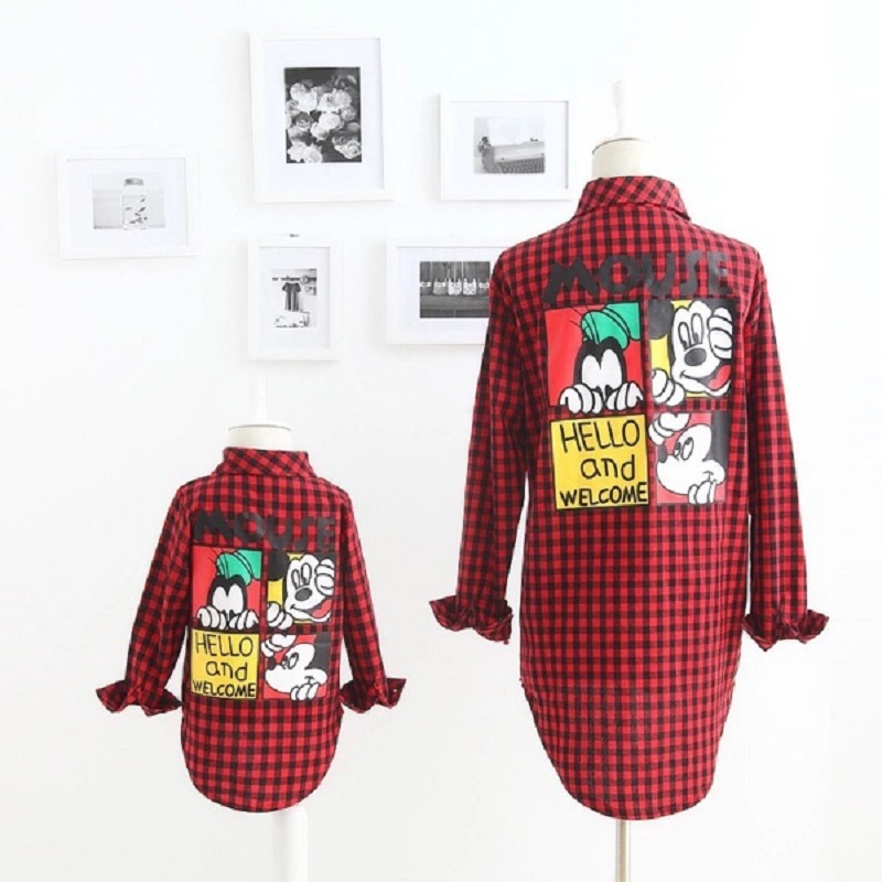 Mom and Son Matching Clothes Mother Son Outfits Mama Mum and Daughter Baby Clothes Dresses Kids Girls Red Plaid T Shirt Clothing family matching outfits kids girls and mom clothes floral print dress mom girls pleated party skirts mother and daughter dresses