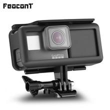 إطار حماية مضاد للصدمات من FeoconT غطاء جانبي لبنك طاقة من GoPro هنا 5 Hero 6 أسود بطارية ممتدة واجهة من نوع C