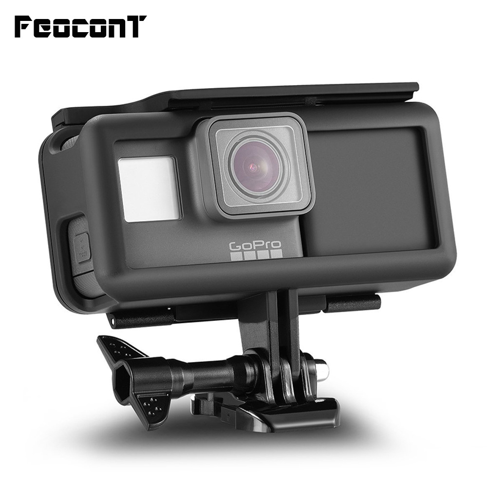 FeoconT Shockproof Protective Frame Housing Case Side Power Bank For GoPro Here 5 Hero 6 Black Extended Battery Type C interface-in Sports Camcorder Cases from Consumer Electronics