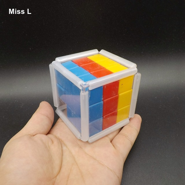 plastic rainbow slide cube block gravity puzzle brain mind game early head start training toys kids