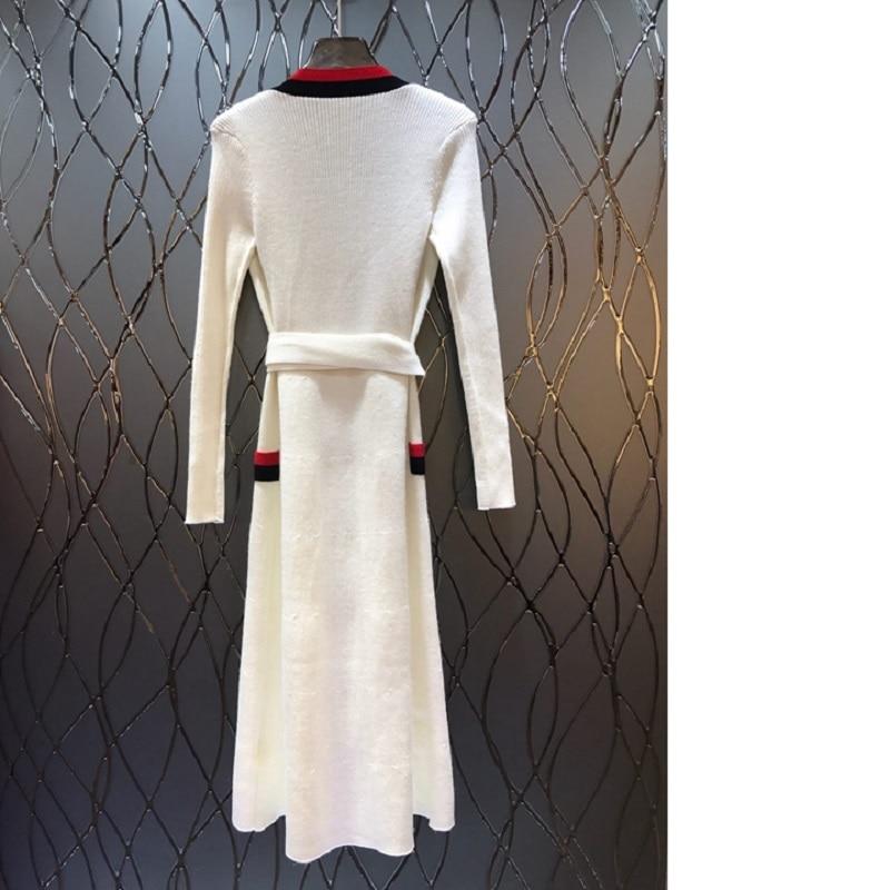Dames Manches Occasionnel Manteaux Patchwork Black Rayé Automne white Outwear Femmes Tricoté Longues Chandail À Couleur Mode red 2018 Cardigan De XYxPZzP