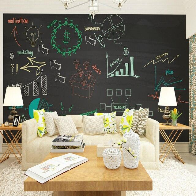 3d photo papier peint tableau noir craie couleur th me grande fresque bar caf ktv de papier. Black Bedroom Furniture Sets. Home Design Ideas