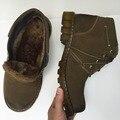 Handmade homens bota Vaca Suede couro Botas de Inverno Quente sapatas Dos Homens Clássico de alta qualidade Flats moda Casual Rendas Até botas de Trabalho