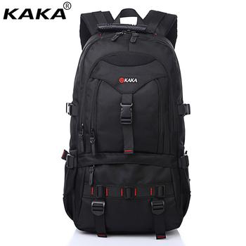 Find Deals 2018 KAKA Brand Waterproof Shoulder Bag Men Women Camouflage  Black Color Computer Bag Casual Travel 15.6