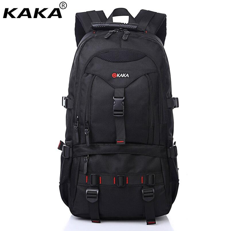 """2019 KAKA марка водоустойчив чанта за рамо мъже жени камуфлаж черен цвят компютър чанта случайни пътуване 15.6 """"лаптоп училище раница  t"""
