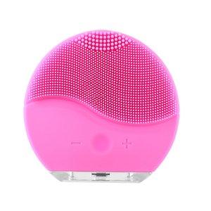 بالموجات فوق الصوتية الكهربائية الوجه التطهير الوجه غسل فرشاة الاهتزاز الجلد البثرة مزيل نظافة المسام تدليك USB قابلة للشحن