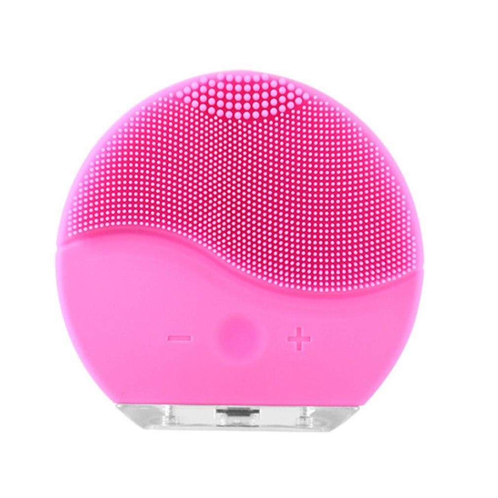 Ultrasónico limpiador Facial eléctrico cara cepillo de lavado de vibración de la piel de la espinilla removedor limpiador de poros masaje USB recargable