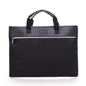 A4 การจัดเก็บผลิตภัณฑ์หนัง PU แฟ้มโฟลเดอร์ธุรกิจหรูหราเอกสารการประชุมกระเป๋าถือซิปกระเป๋าเ...