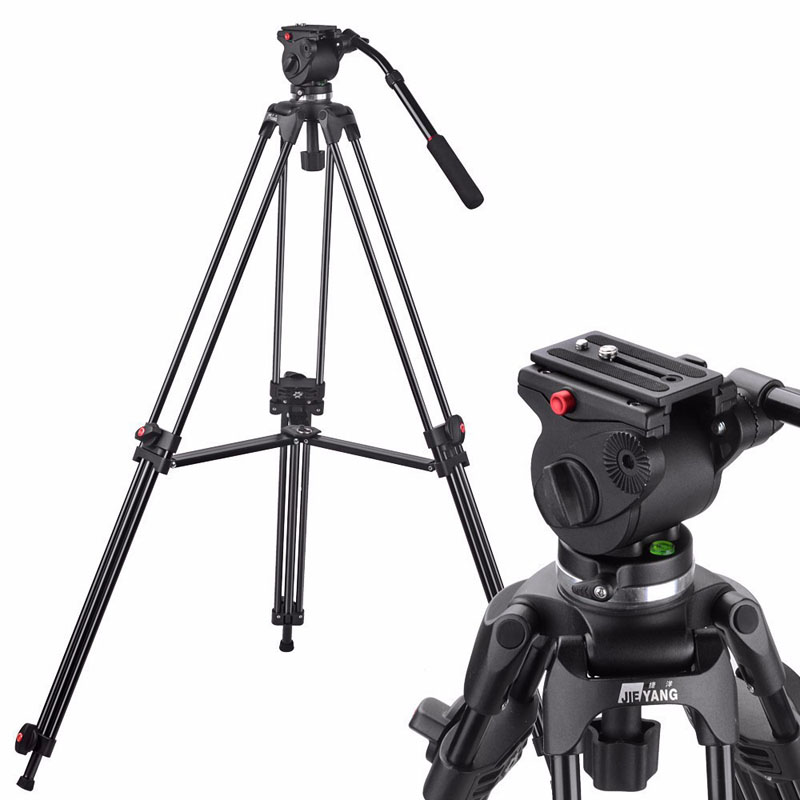 New JY0508A Professional Video Tripod Stand for Camera Camcorder / DSLR Heavy Tripod / Video Damping Fluid Head / 63 Max Height wt3110a 40 inch aluminum tripod stand for camera dslr camcorder