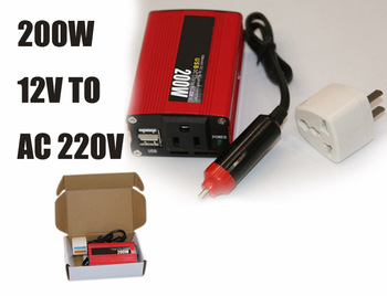 Polarlander przetwornica 12 v do 220 v 200 W falownik samochodowy 12 v 220 v 200 w 50Hz falownik z USB zmodyfikowany falownik sinusoidalny tanie i dobre opinie Dc 12 v Ac 220v±10