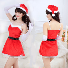 Christmas Sex Game Costumes Cute Sexy Temptation Uniforms Women Party Nightclub Pole Dance Lingerie Set Cheap China Clothes