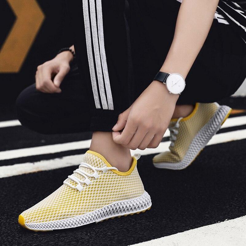 ADISPUTENT Shoe Vulcanized-Shoes Sneakers Flats Mesh Summer New Breathable Men