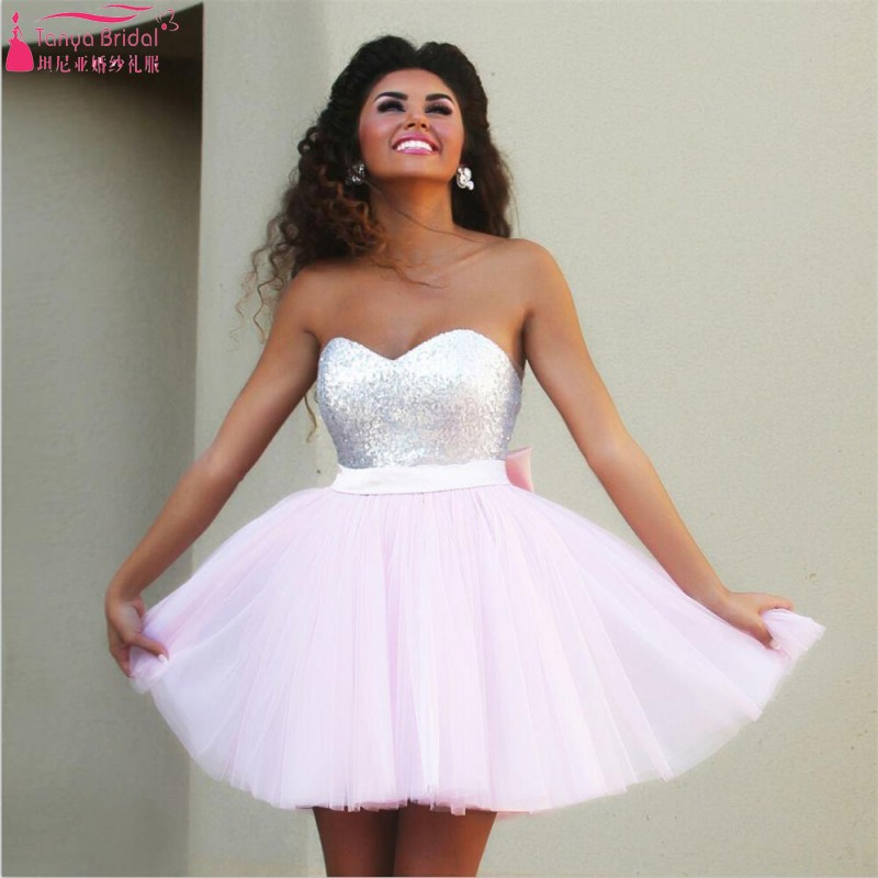 Popular Pink Short Homecoming Dresses-Buy Cheap Pink Short ...