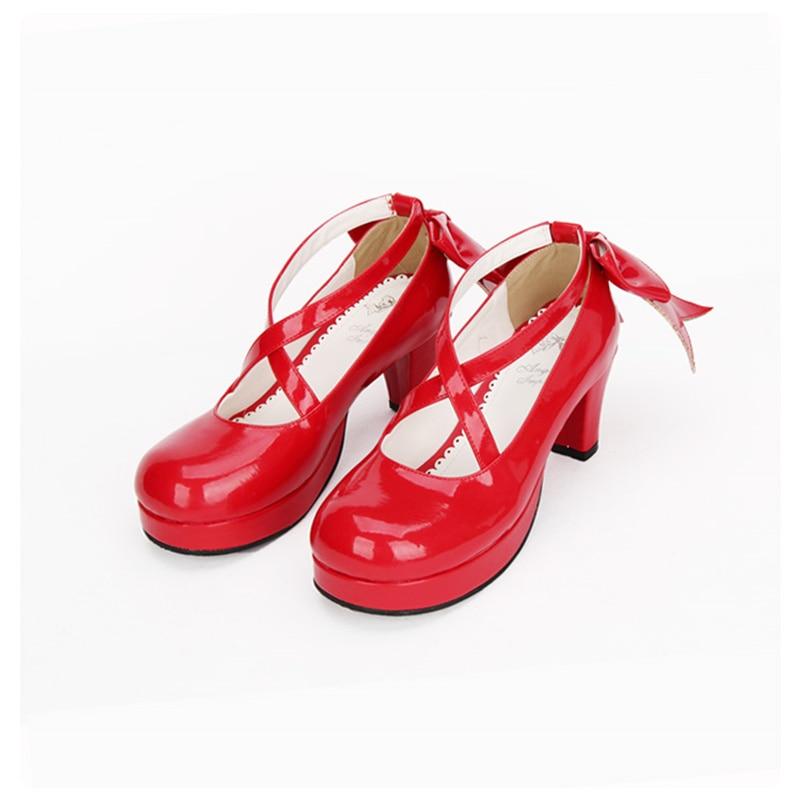 Bow Pompes Custom À with Lolita Princesse Soirée Pearl De Chaussures Made Lanières with Cuir En Criss Doux Chérie Filles Rouge Cross xHwZU4vqF