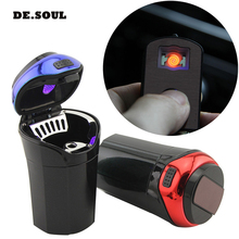 PARASOLANT Detachable Automotive Supplies Car ashtray with LED lights Cigarette