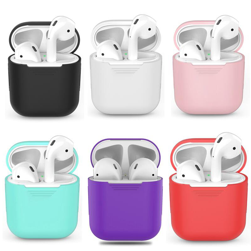 Soft Silicone Case For Apple Airpods Shockproof Cover For Apple AirPods Earphone Cases Ultra Thin Air Pods Protector CaseSoft Silicone Case For Apple Airpods Shockproof Cover For Apple AirPods Earphone Cases Ultra Thin Air Pods Protector Case