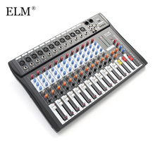 ELM Professional 12Channel Karaoke Audio Sound Mixer Super Slim Microphone Mixing Amplifier Console With USB 48V