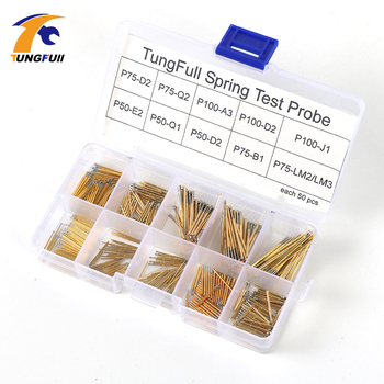 Spring Test Probe Best Promotion 500 Pieces P50-P100 Pogo Pin Phosphorus Brass Gilded Stainless Steel Wire