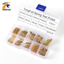 Ponta de prova do teste da mola melhor promoção 500 peças P50 P100 pogo pino fósforo bronze dourado fio de aço inoxidável