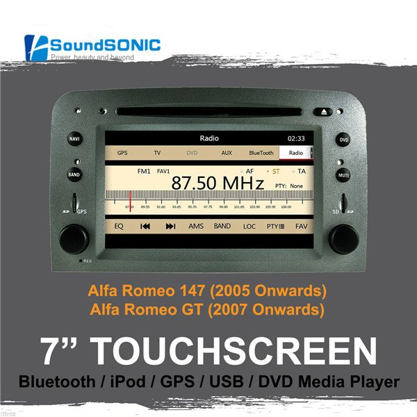 for alfa romeo 147 gt 6 2 39 39 auto car dvd radio gps navigation autoradio headunit bluetooth mp3. Black Bedroom Furniture Sets. Home Design Ideas
