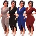 2017 mulheres elegantes plissadas slit bodycon dress vestidos