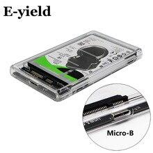 2.5″ USB 3.0 SATA Hd Box HDD Hard Disk Drive External HDD Enclosure Transparent Case Tool Free 5 Gbps Support 2TB UASP Protocol
