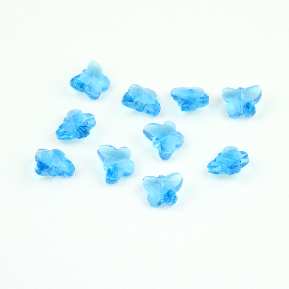K9 Crystal Butterfly Beads 14mm 100-2000pcs Aquamarine Jewelry Accessories Beads For Diy Free Shipping