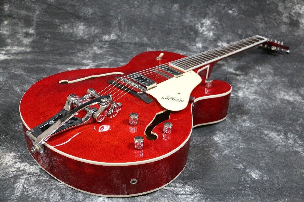 high quality semi hollow body gretsch bigsby bridge electric guitar guitarra all color accept. Black Bedroom Furniture Sets. Home Design Ideas