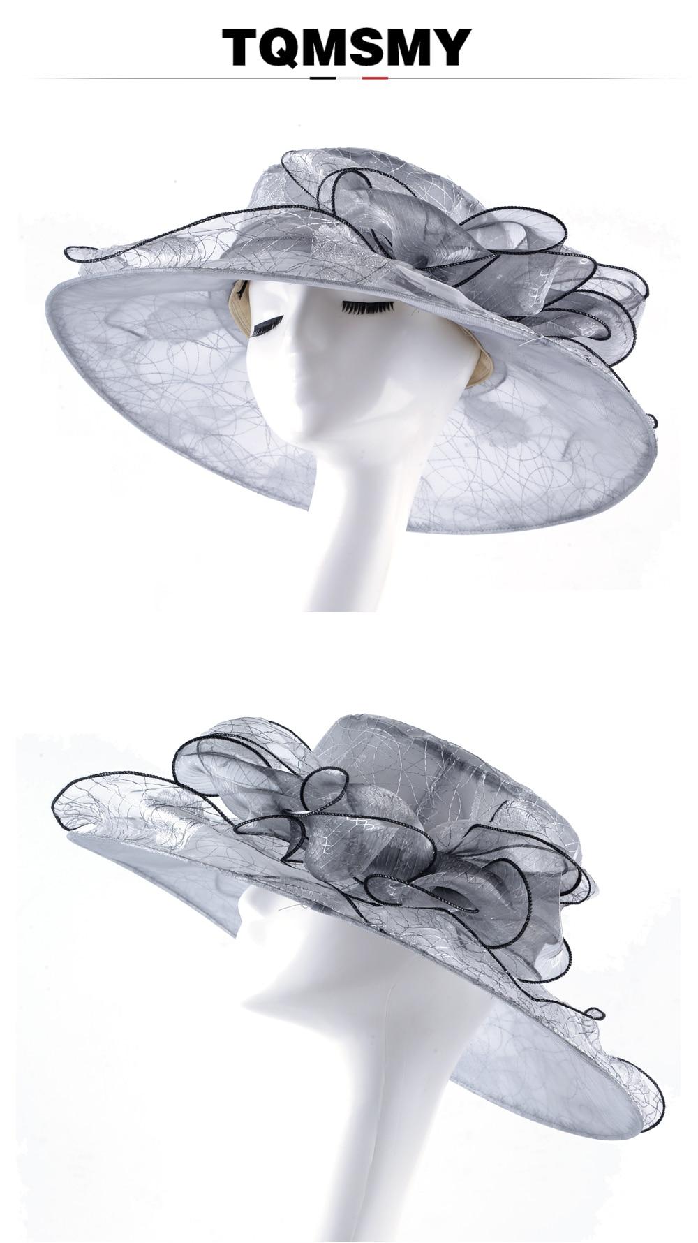 ᗛTQMSMY elegante sombreros de Sol para las mujeres amplia Birm ... b7a24d2ab29
