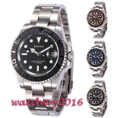 Newest Hot 41mm Parnis Blue dial Stainless Steel Sapphire glass Deployment Clasp 21 jewels miyota Automatic movement Men's Watch mexi 10pcs bag round magnetic pin button memo message note whiteboard fridge home office refrigerator parts