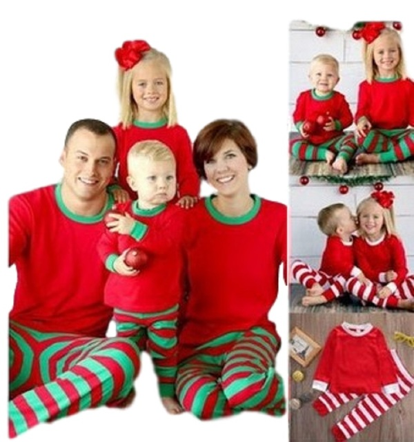 tcYct Family Look 2017 Family Matching Outfits Cotton Striped Matching Christmas  Outfits Father Baby Family Christmas Pajamas - TcYct Family Look 2017 Family Matching Outfits Cotton Striped