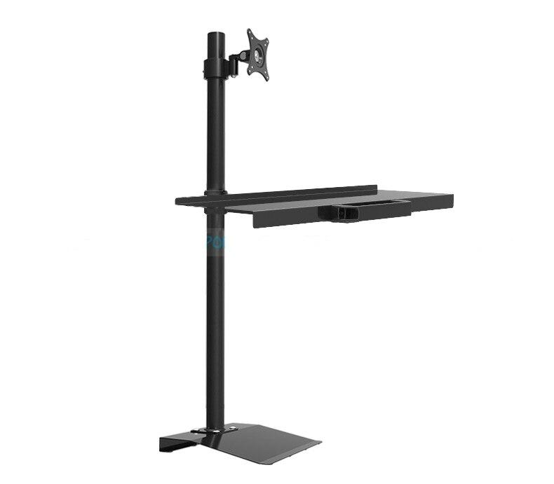 W840 support de sol de levage sans Rotation complète moniteur clavier porte-plateau support de moniteur poste de travail assis support mural TV