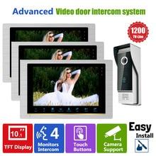 Homefong videoportero de alta resolución para puerta, sistema de intercomunicación Visual nocturna, intercomunicador, timbre de 1V3 para puerta