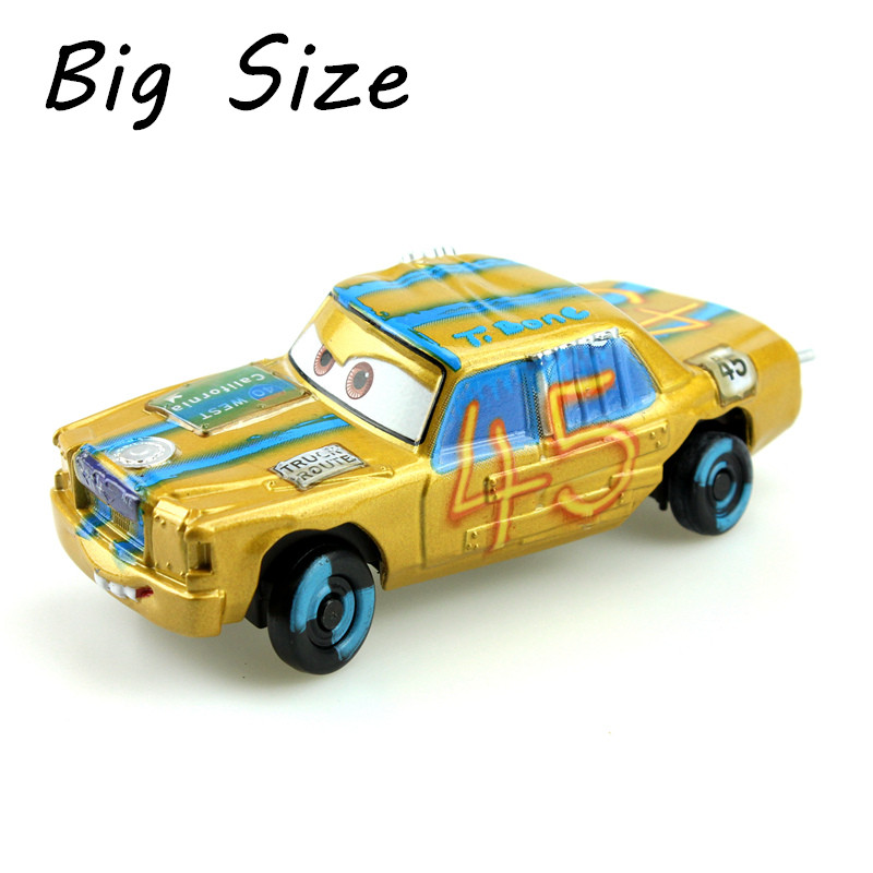 Disney Pixar Cars 3 Crazy Crashed Party Big Size No.45 <font><b>T</b></font>.Bone 1:<font><b>55</b></font> Scale Diecast Metal Alloy Toys Car Model Gift For Children image