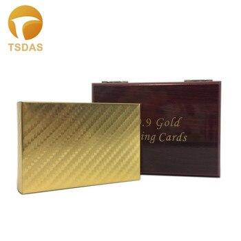 24kt Gold Karten Set Mosaik Stil Kunststoff Spielkarten Mit Geschenk-box & Goldene Zertifikat Kostenloser Versand
