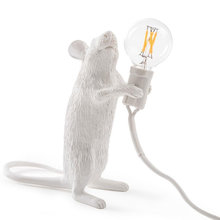 wongshi Little Mouse Table Lamps Industrial Retro Animal Art Mouse Desk Lights Bedroom Cafe Bar Decorate Table Lighting(China)