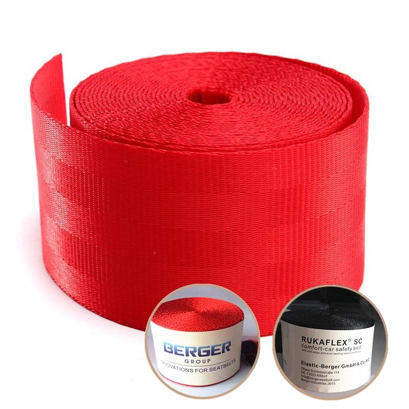 Universal vermelho ou preto racing frente 3 pontos de segurança retrátil van cinto de volta do assento de carro 4.8x380cm cinta acessório