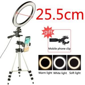 Image 5 - LED Studio Camera Ring Light Photography Photo Tripod USB Plug Make up lamp for women dresser lamp youtube video Selfie light