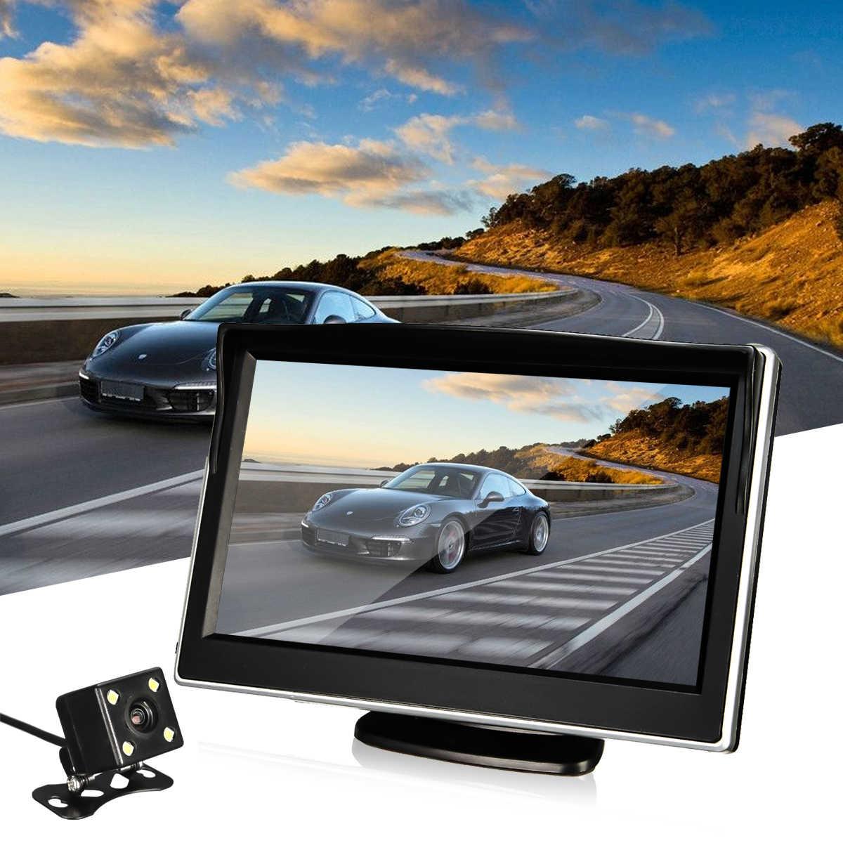 Водонепроницаемый подголовник Автомобильный монитор 5 дюймов TFT ЖК-дисплей Авто Парковка заднего вида резервная камера 170 градусов камера заднего вида ночное видение