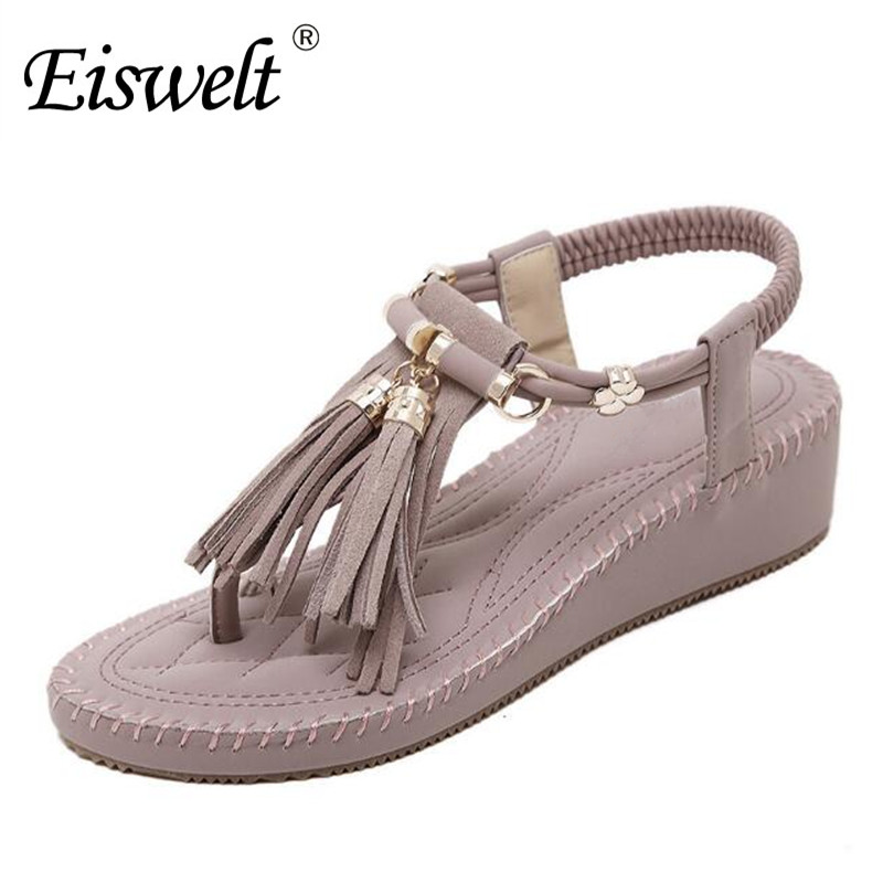 Eiswelt Fashion Wedges Women Sandals Summer Women Casual Shoes Open Toes Platform Ladies Sandals Female Footwear Shoes#DZW47 weweya casual gladiator female flats sandals 2017 new platform open toes shoes women summer wedges shoes woman sandalias sapatos