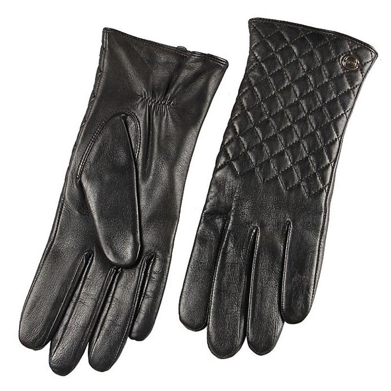 HOT Sale Fashion Lady Sheepskin Gloves Autumn Winter Plus Warm Velvet Women Genuine Leather Elegant Driving Glove EL014PC 5 in Women 39 s Gloves from Apparel Accessories